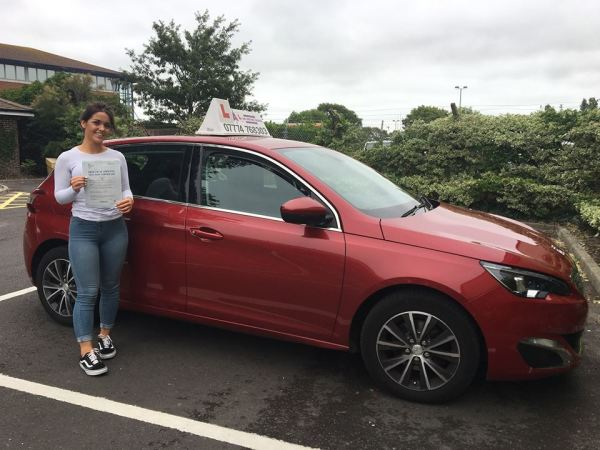 Maisie Passes Her Driving Test Today,  21st August 2018, With A Line Driving School