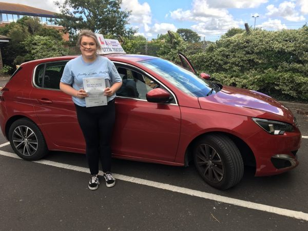 Pippa Passes Her Driving Test Today, 13th September 2018, With A Line Driving School