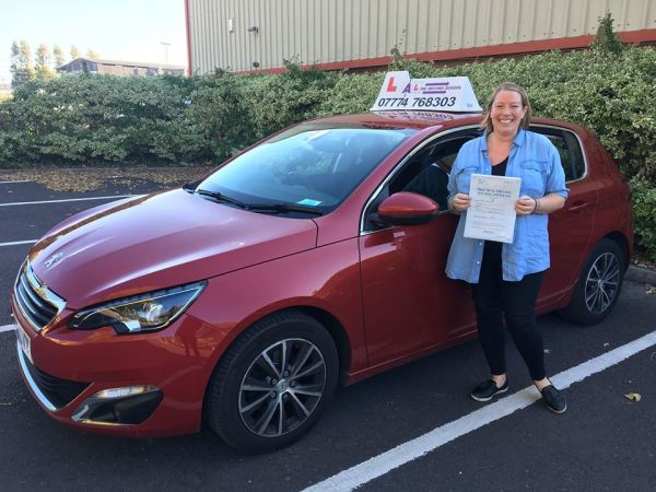 Amelia Passes Her Driving Test Today, 9th October 2018, With A Line Driving School