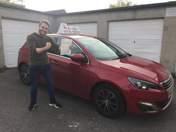 Harrie Passes His Driving Test Today, 23rd October 2018, With A Line Driving School