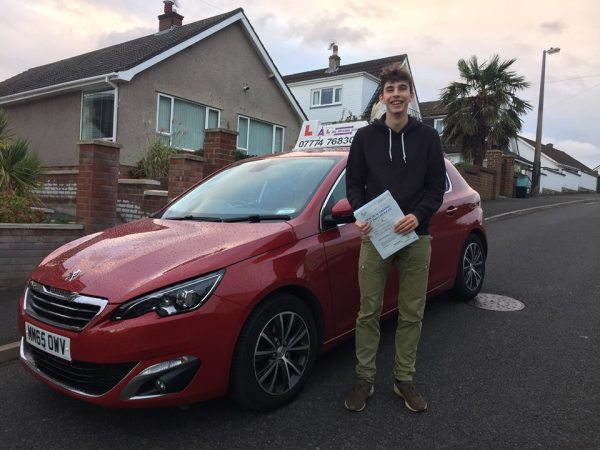 Jared Passes His Driving Test Today. 26th October 2018, With A Line Driving School