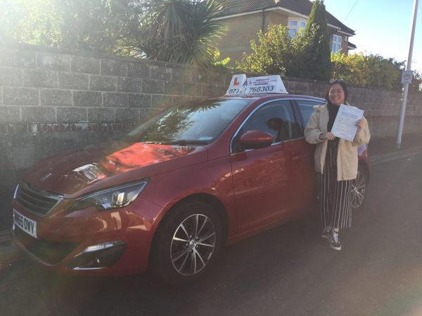 Emma Passes Her Driving Test Today, 29th October 2018, With A Line Driving School