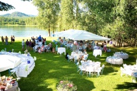Wedding venue on the Pend Oreille River.
