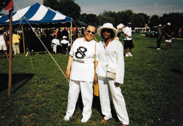 Gloria Owens-Butler and her friend