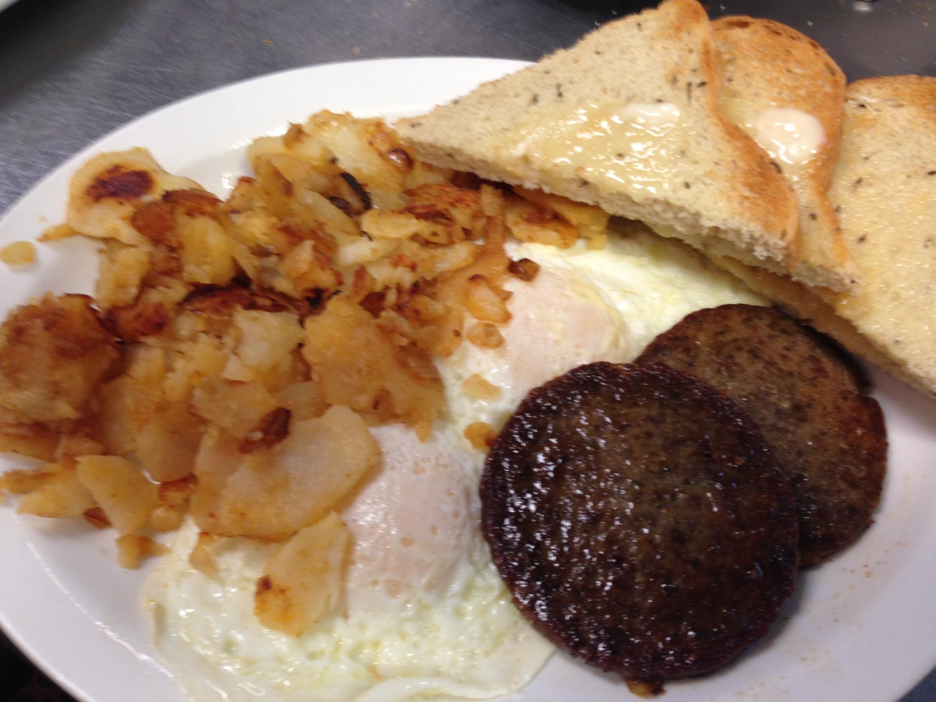 2 Egg Sausage Plate