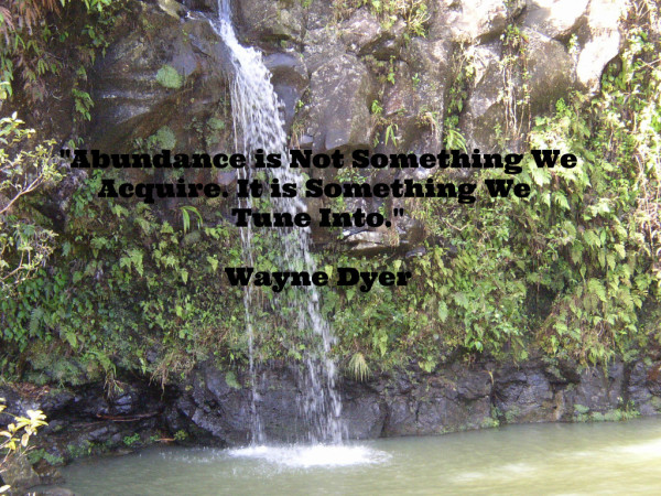 Intuitive Life Coach, Patti Tatro,Waterfall, Hana, Maui, Hawaii, abundance, Wayne Dyer