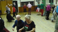 Dancing Caribbean Calypso at Backwell Sequence Dance Club's Christmas party 2016
