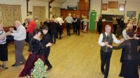 Dancing Rumba One at Backwell Sequence Dance Club's Christmas party 2016