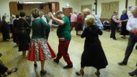 Dancing Viennese Swing at Backwell Sequence Dane Club Christmas party 2016