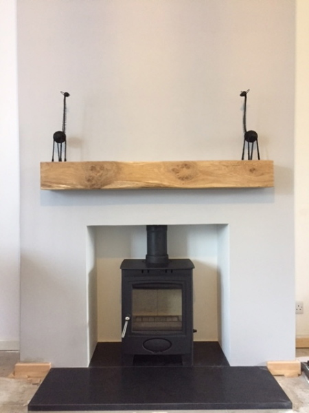 Aarrow Ecoburn 5, honed granite hearth, multifuel stove, log burner