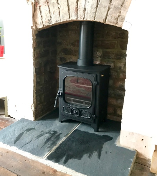 wood burning stove installation, Bristol installation stove, stone hearth