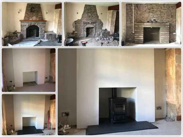 Multifuel stove installation, slate hearth installed, Bristol stove installer