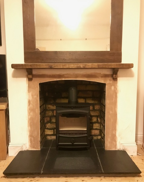 multifuel stove installation, stone hearth, Bristol stove installer