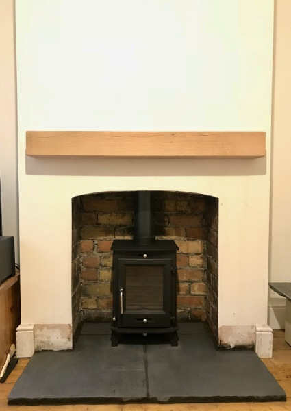 Oak beam fireplace, wood burning stove, bristol stove installer