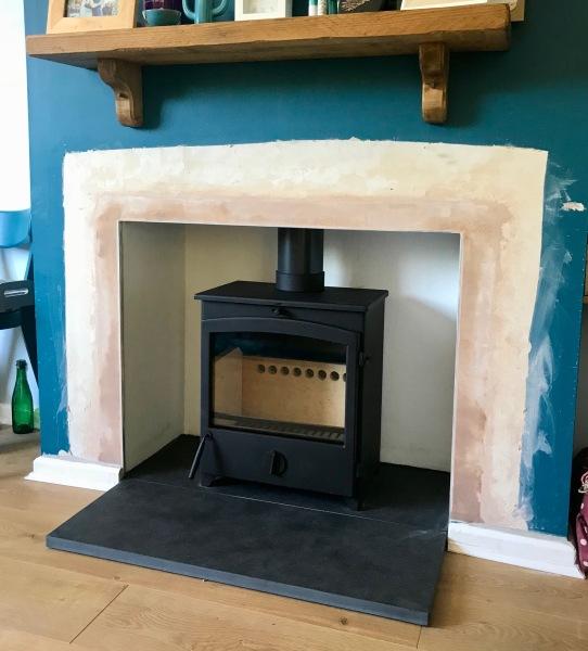multifuel stove, slate hearth stove installation bristol