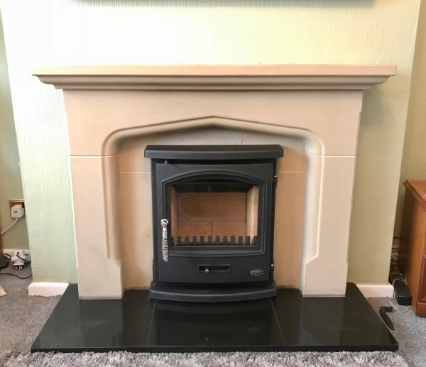 Multifuel stove installation, stove install, inset stove fireplace