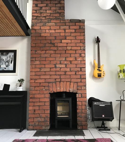 log burner, wood burning stove, fireplace installation