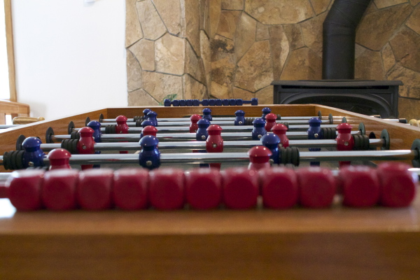 Downstairs foos ball