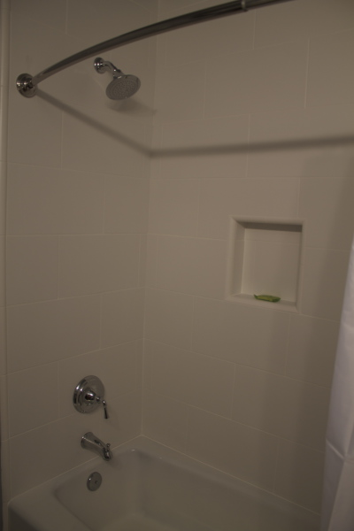 Upstairs hall bath with shower