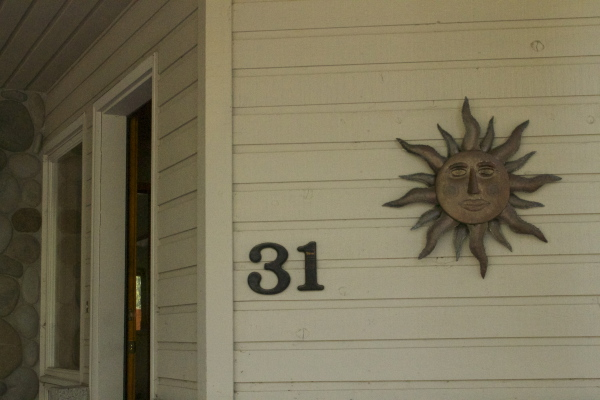 House logo on front of house