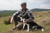 Dave with sheepdog