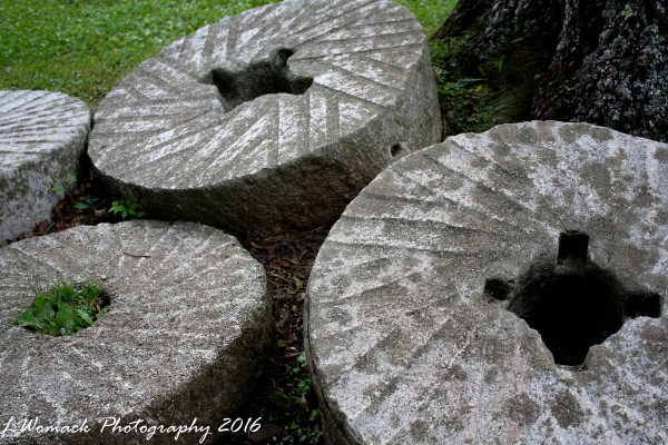 Grist Mill grinding Stones, Mabry Mill, VA