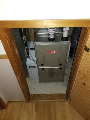 Mechanical room furnace replacement