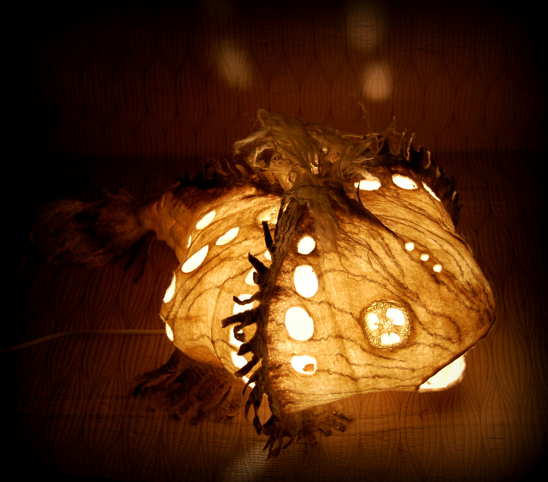 Felting, wool, merino, felt art, lamp, OOAK, валяние, светильник из шерсти, светильник из войлока, лампа из войлока, мокрое валяние