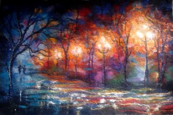 Felted Wool Panel
