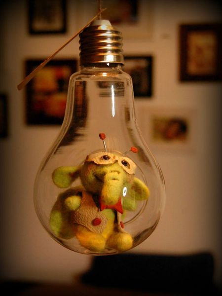 FlyElephant in lamp