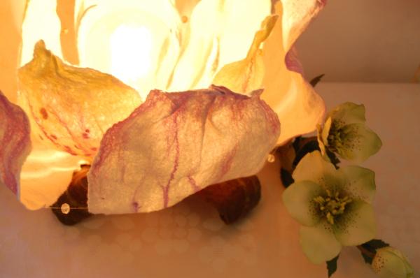 """Felted art lamp """"Flower"""""""