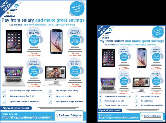 salary sacrifice flyers