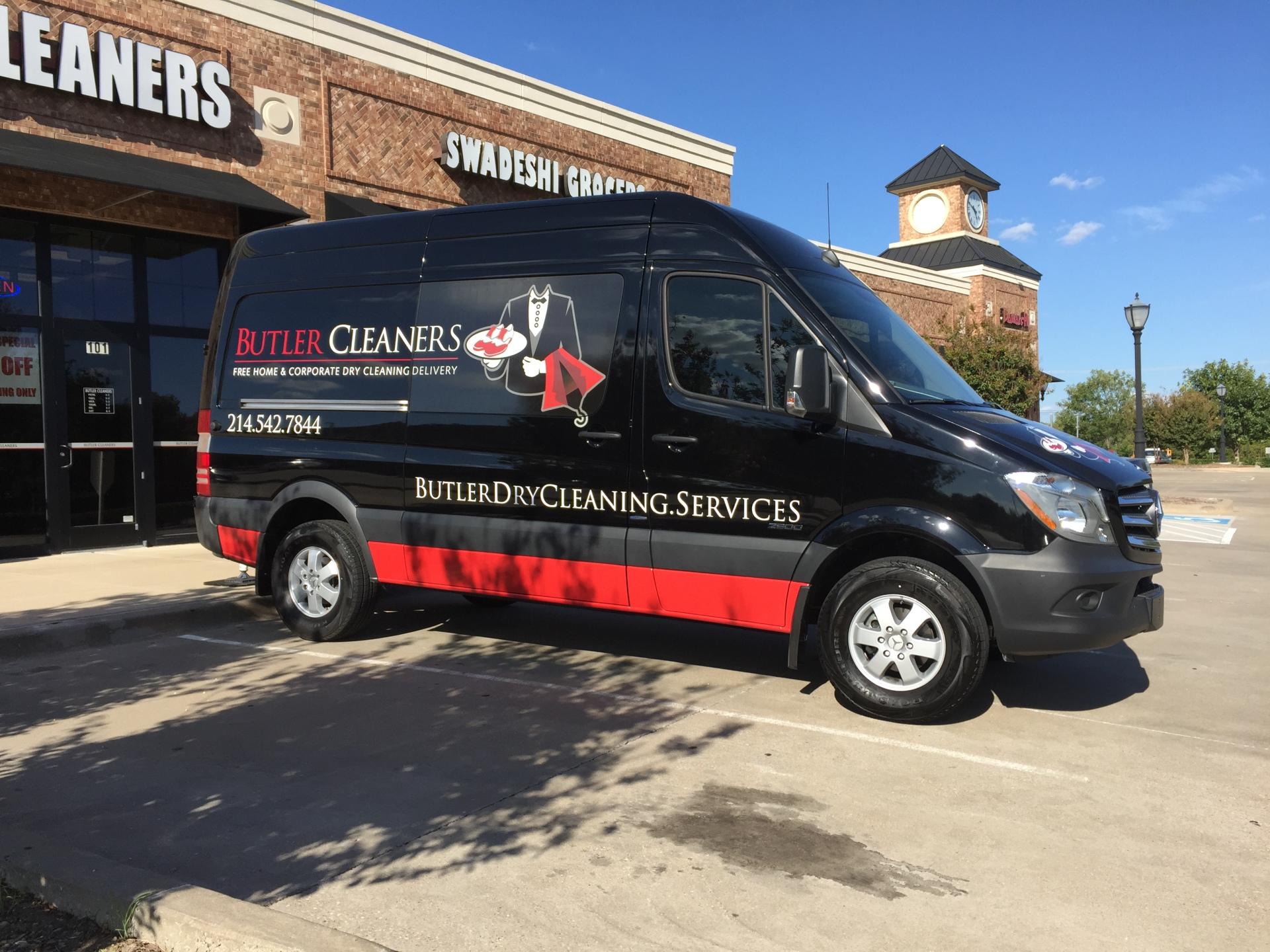 Butler Cleaners Mercedez Sprinter Van Wrap