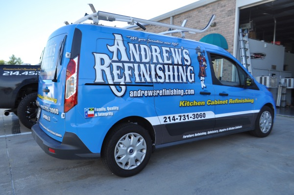 Andrews Refinishing Ford Transit Wrap