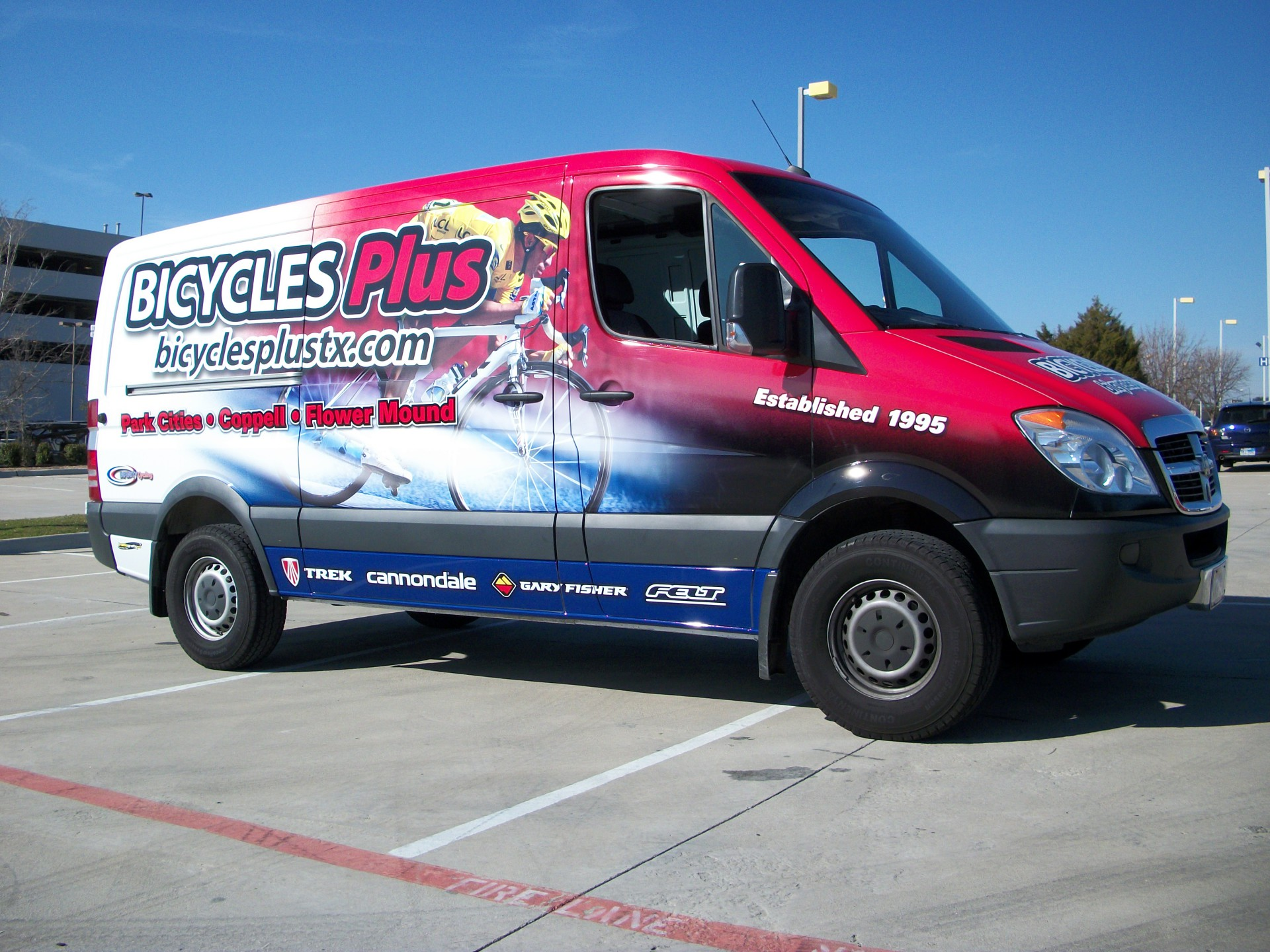 Bicycles Plus Sprinter Van Wrap
