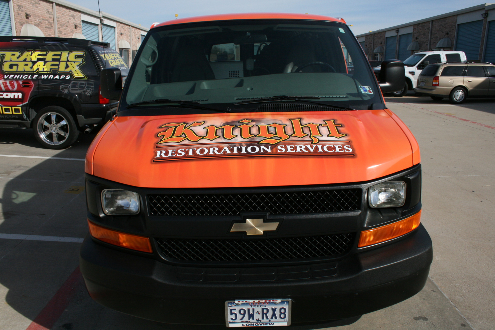 Hood cargo van wrap Dallas
