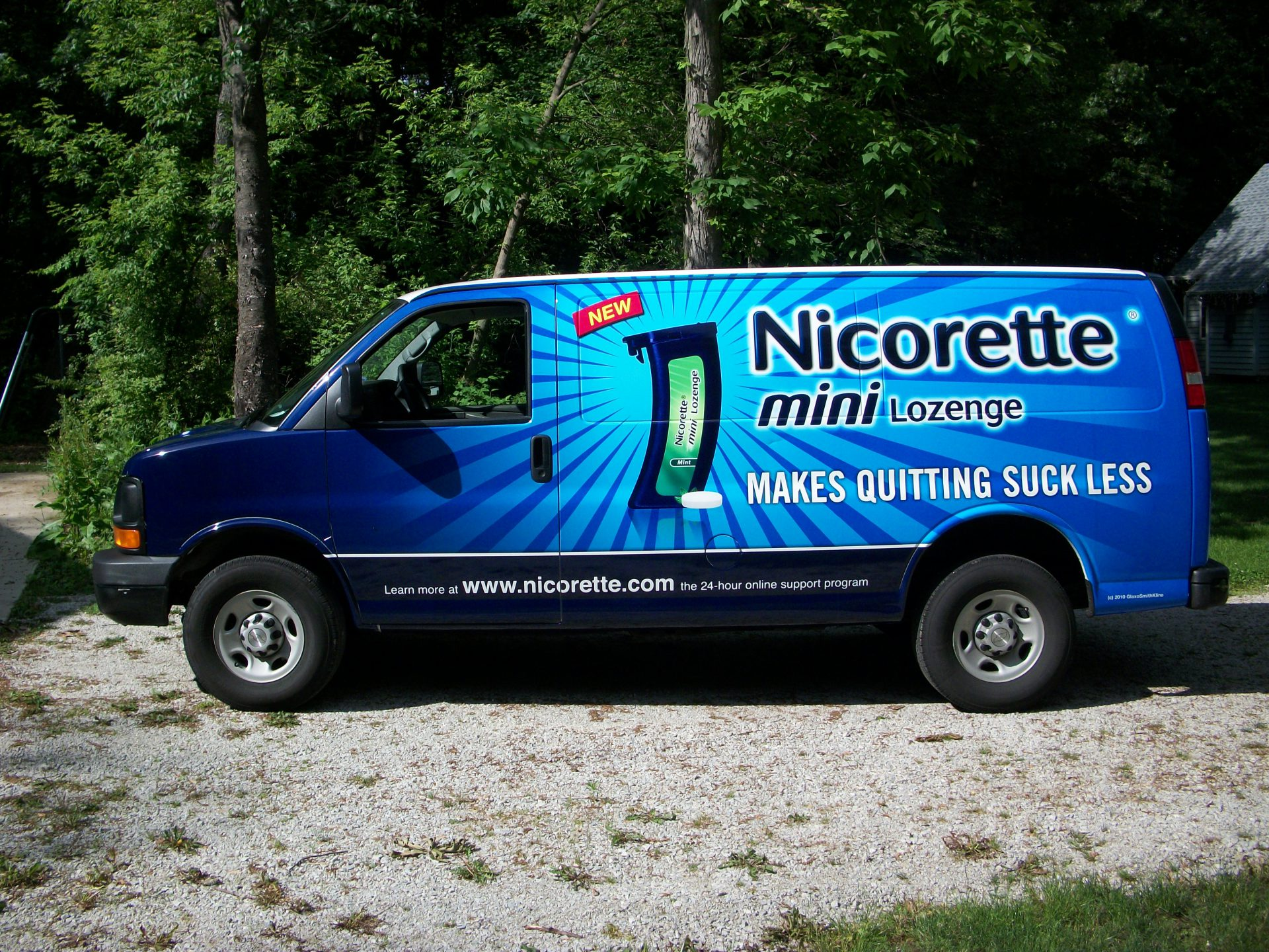 Blue & black van wrap dallas