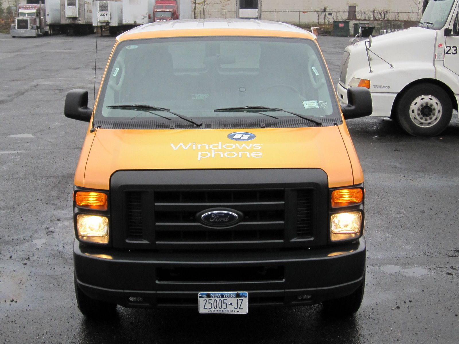 Yellow van wrap Dallas DFW