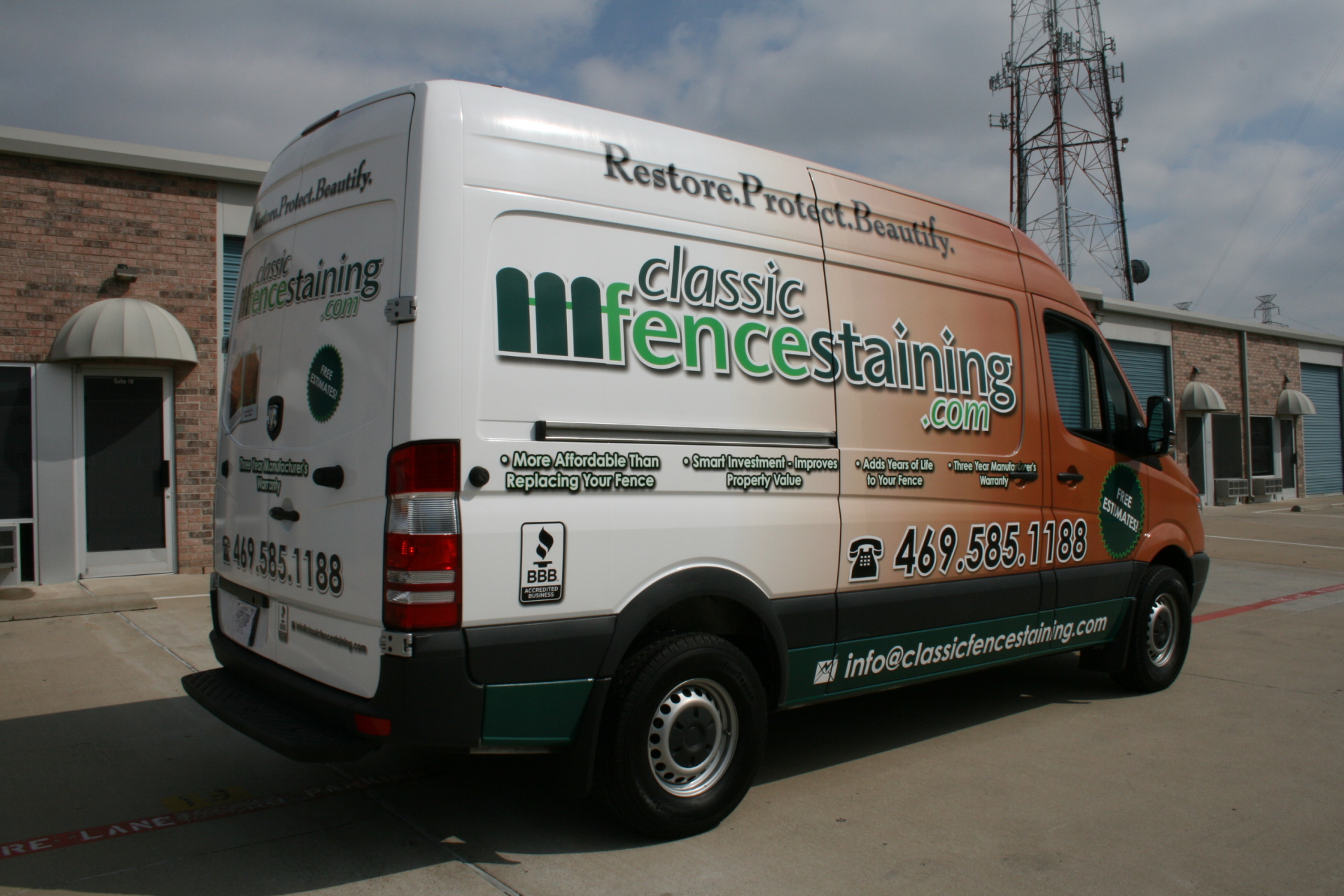 Mercedez Sprinter wrap Plano Texas