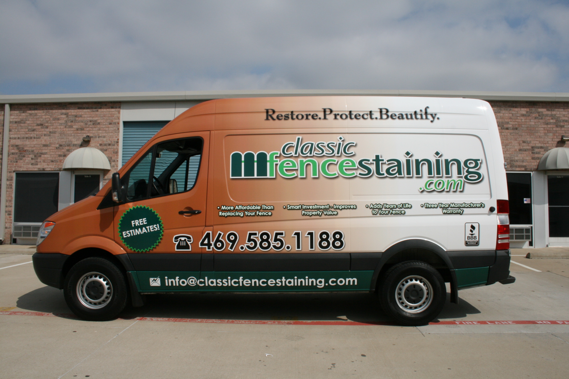 Mercedes Sprinter wrap DFW