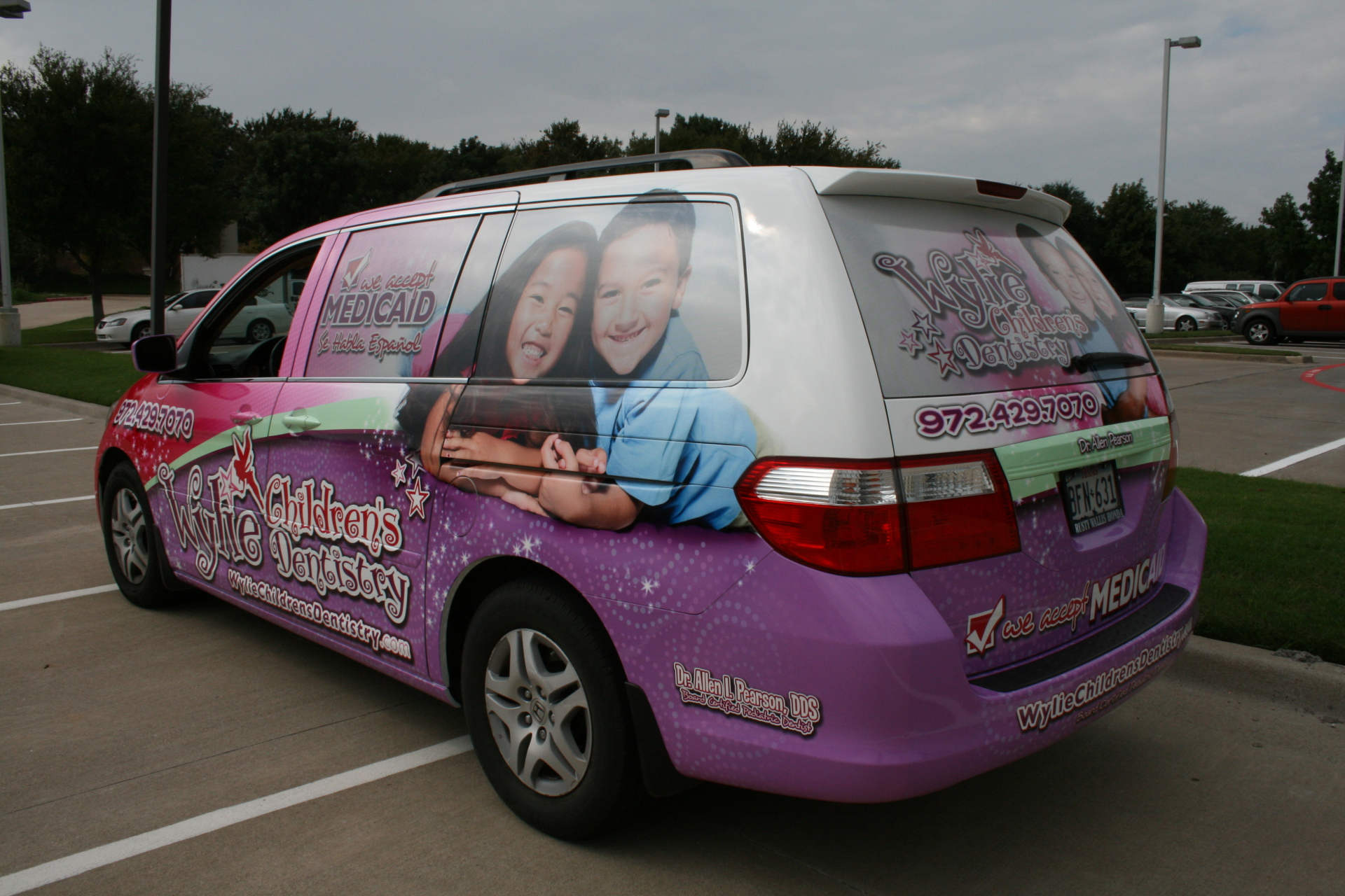 Mini Van vehicle wrap Dallas