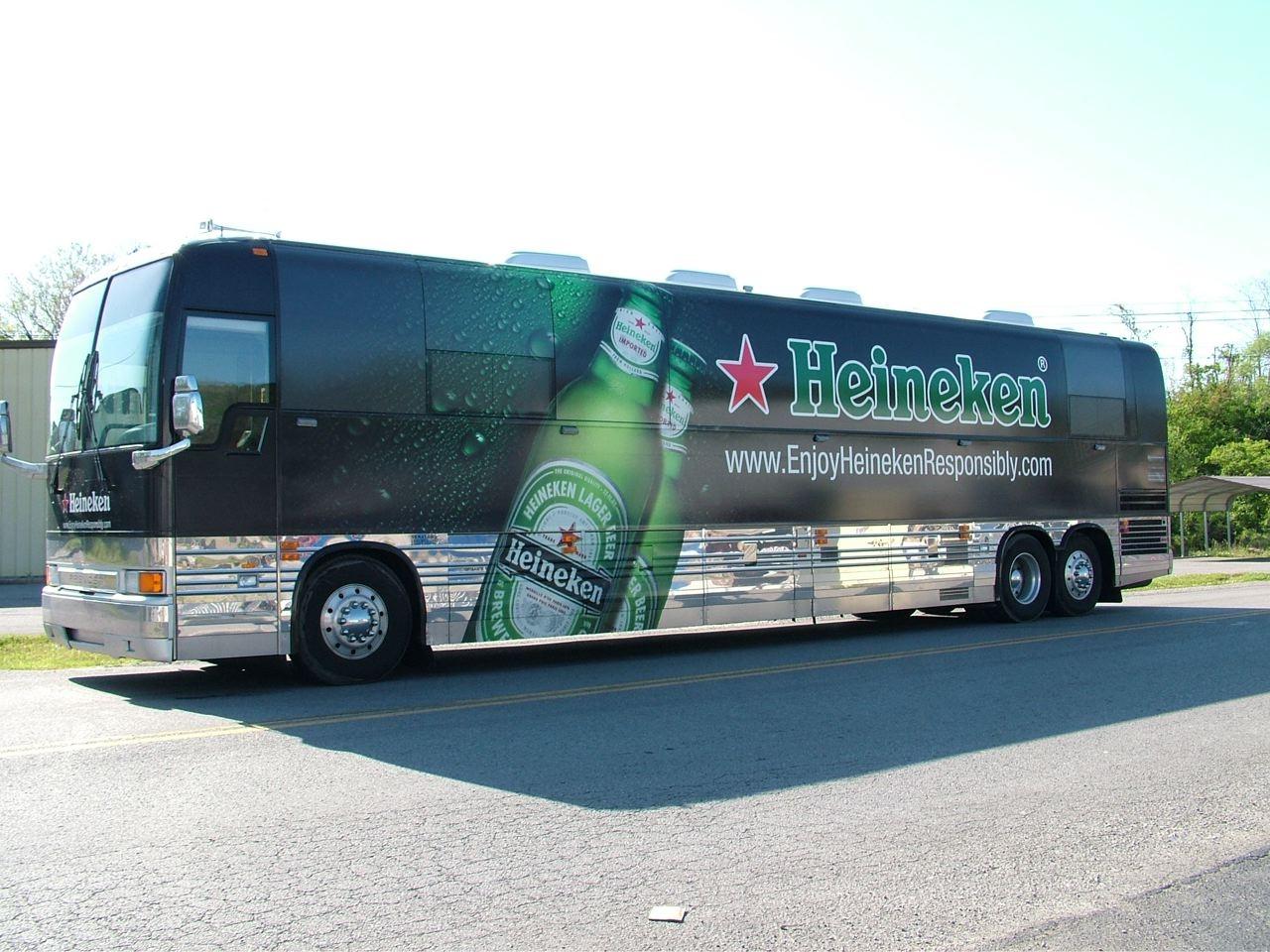 Heineken Bus Wrap