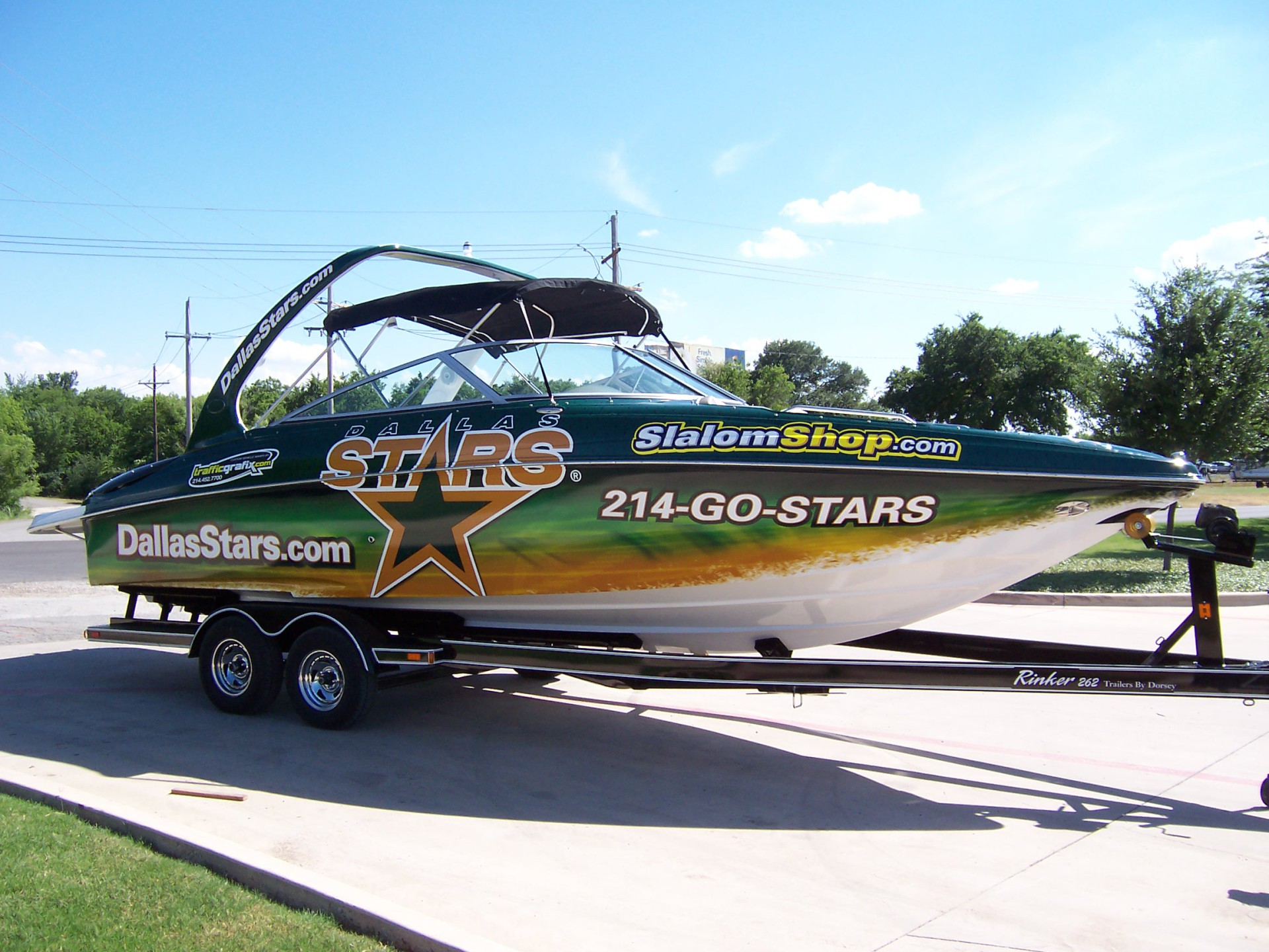 Dallas Stars boat wrap Dallas Ft Worth