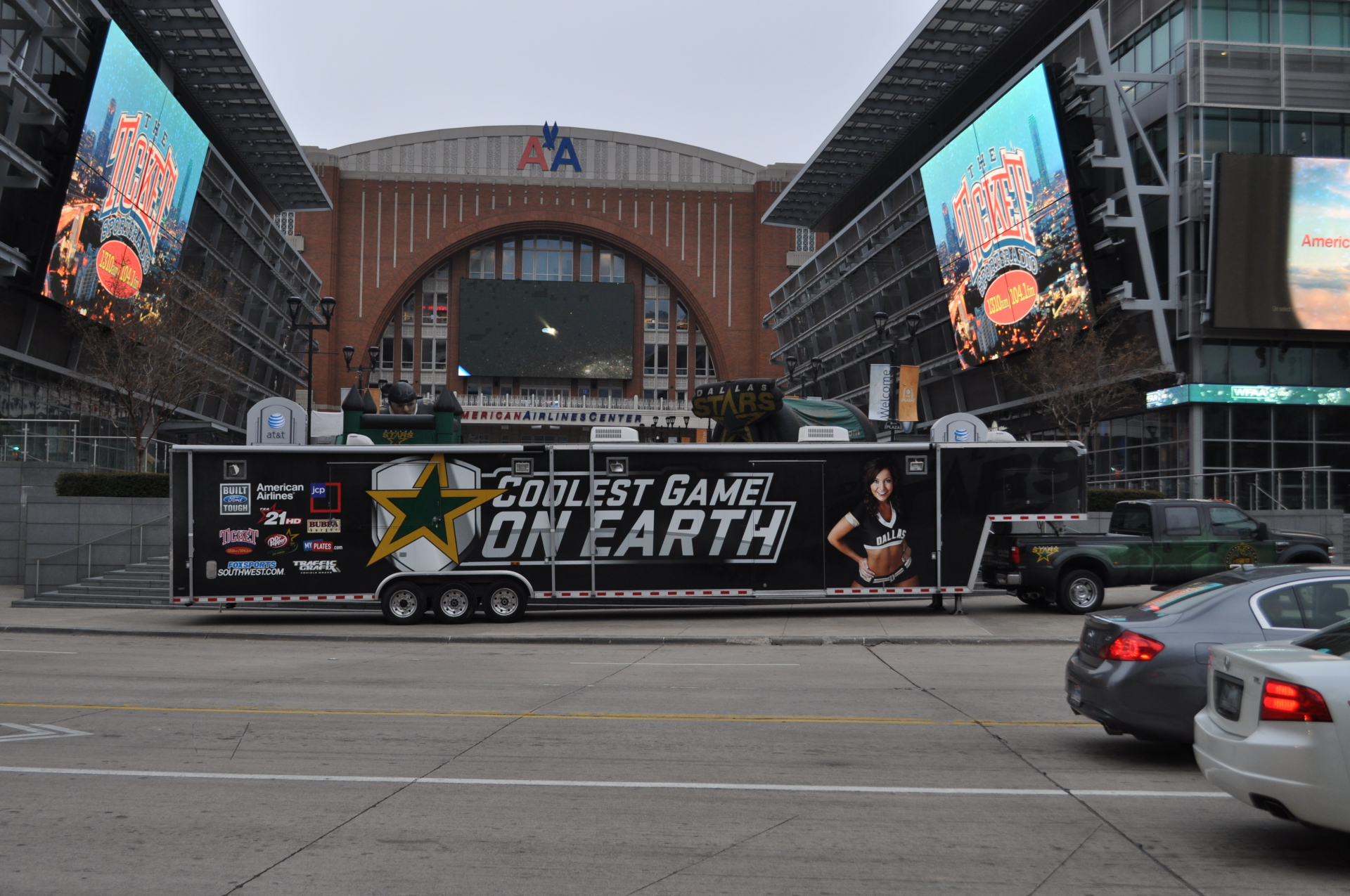 Dallas Stars Trailer Wrap American Airlines Center Dallas Ft Worth Texas