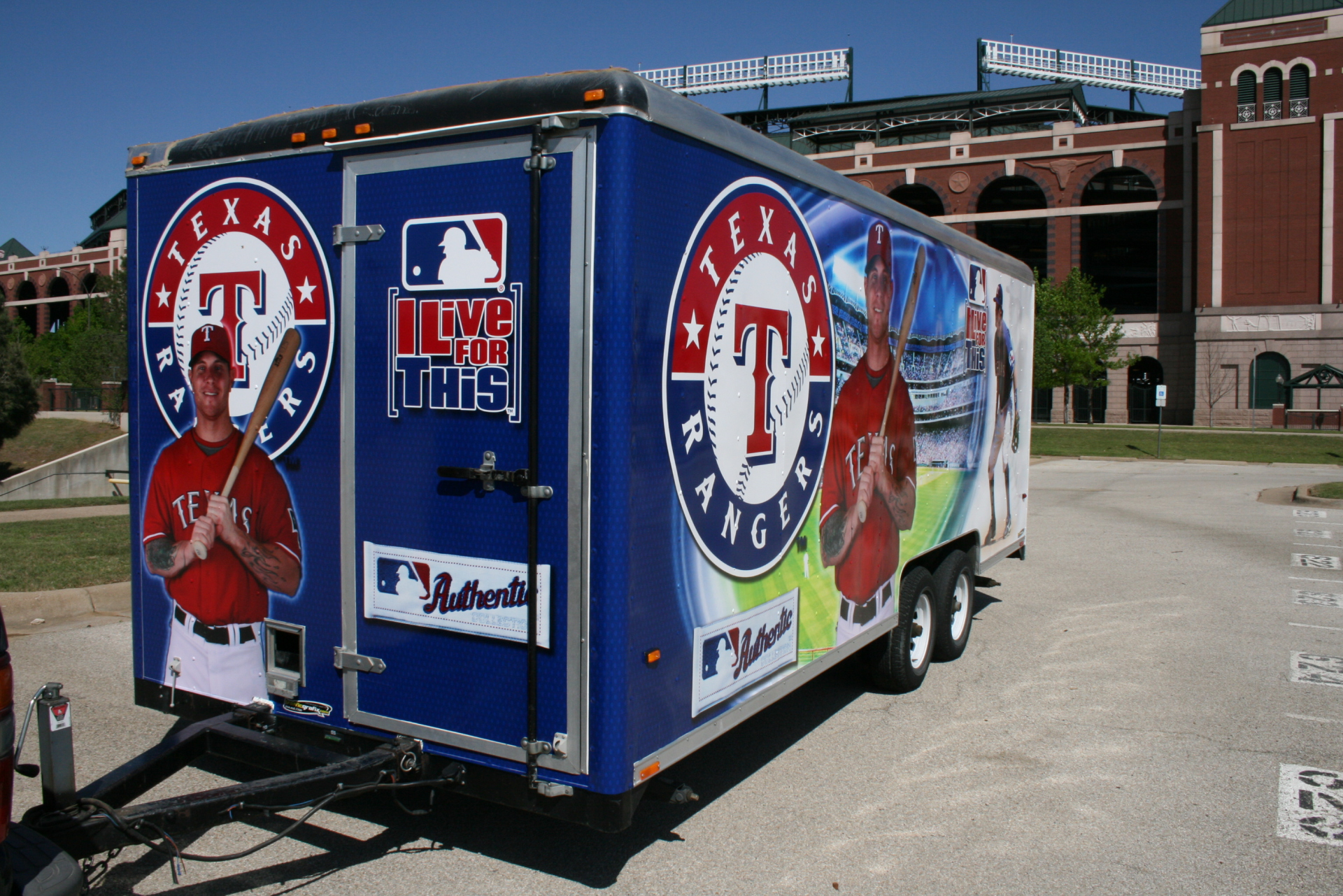 Texas Ranger Trailer wrap, trailer wrap arlington texas, texas trailer wraps