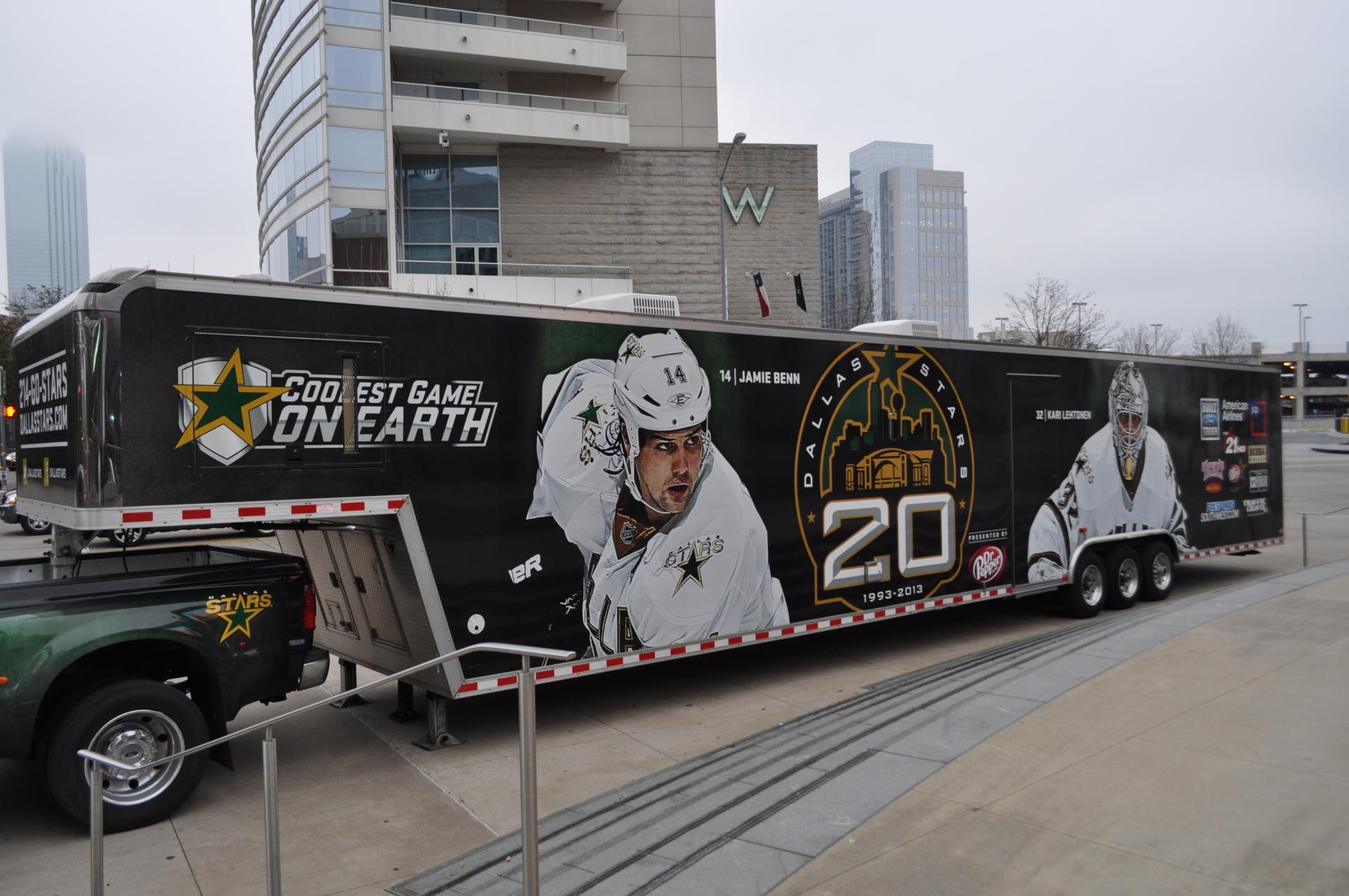 Dallas Stars Trailer Wrap Dallas Texas