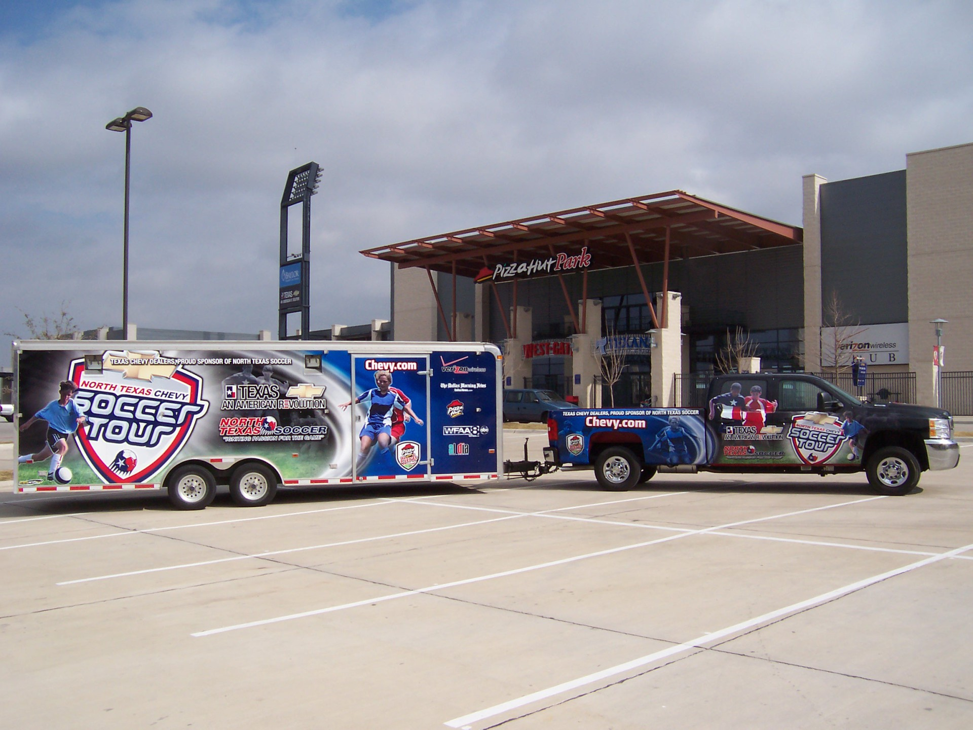 North Texas Soccor trailer wrap, Frisco Texas Vehicle wrap, North Texas vehicle wraps