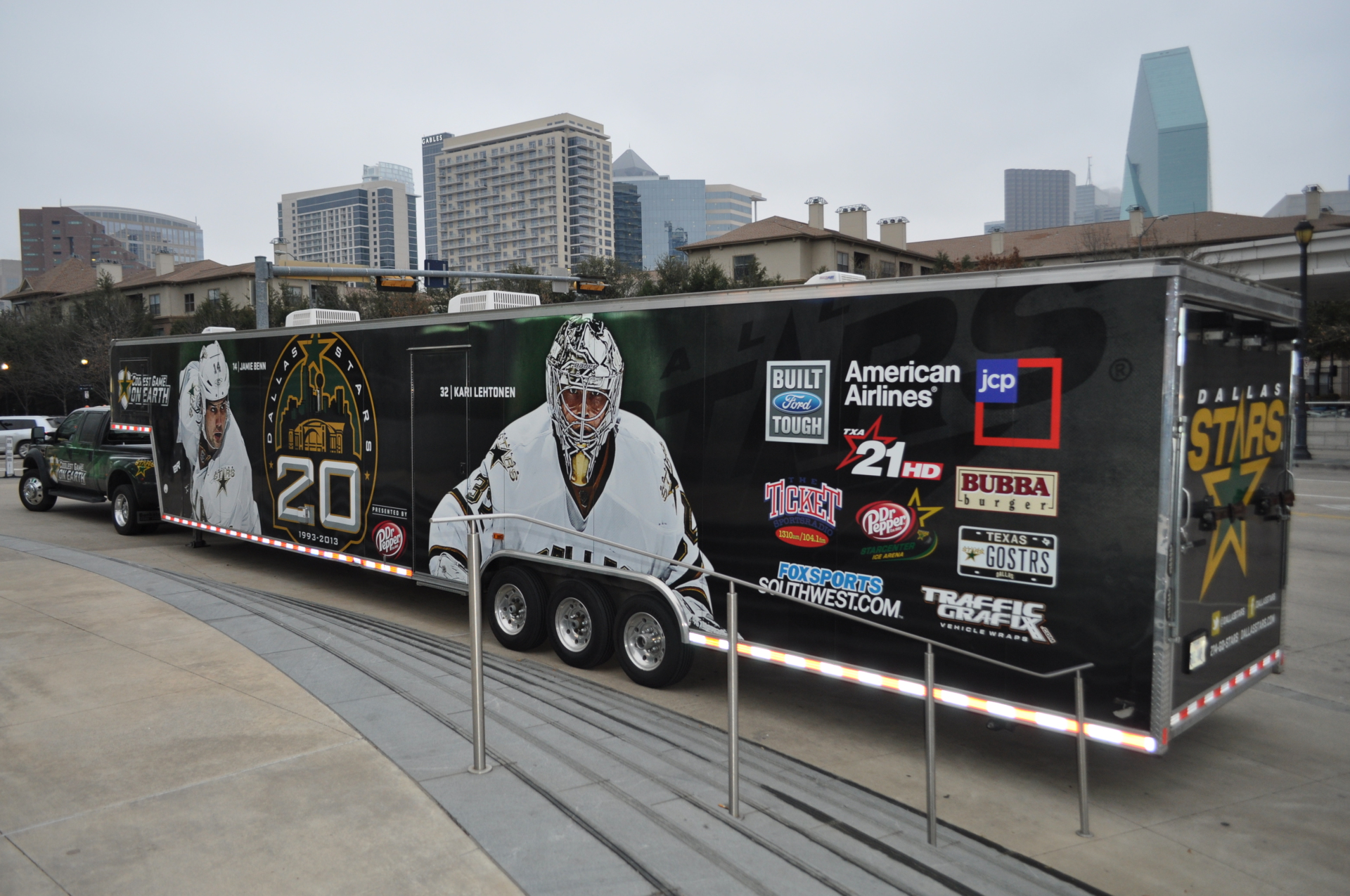 Dallas Stars Trailer Wrap DFW Vehicle Wraps