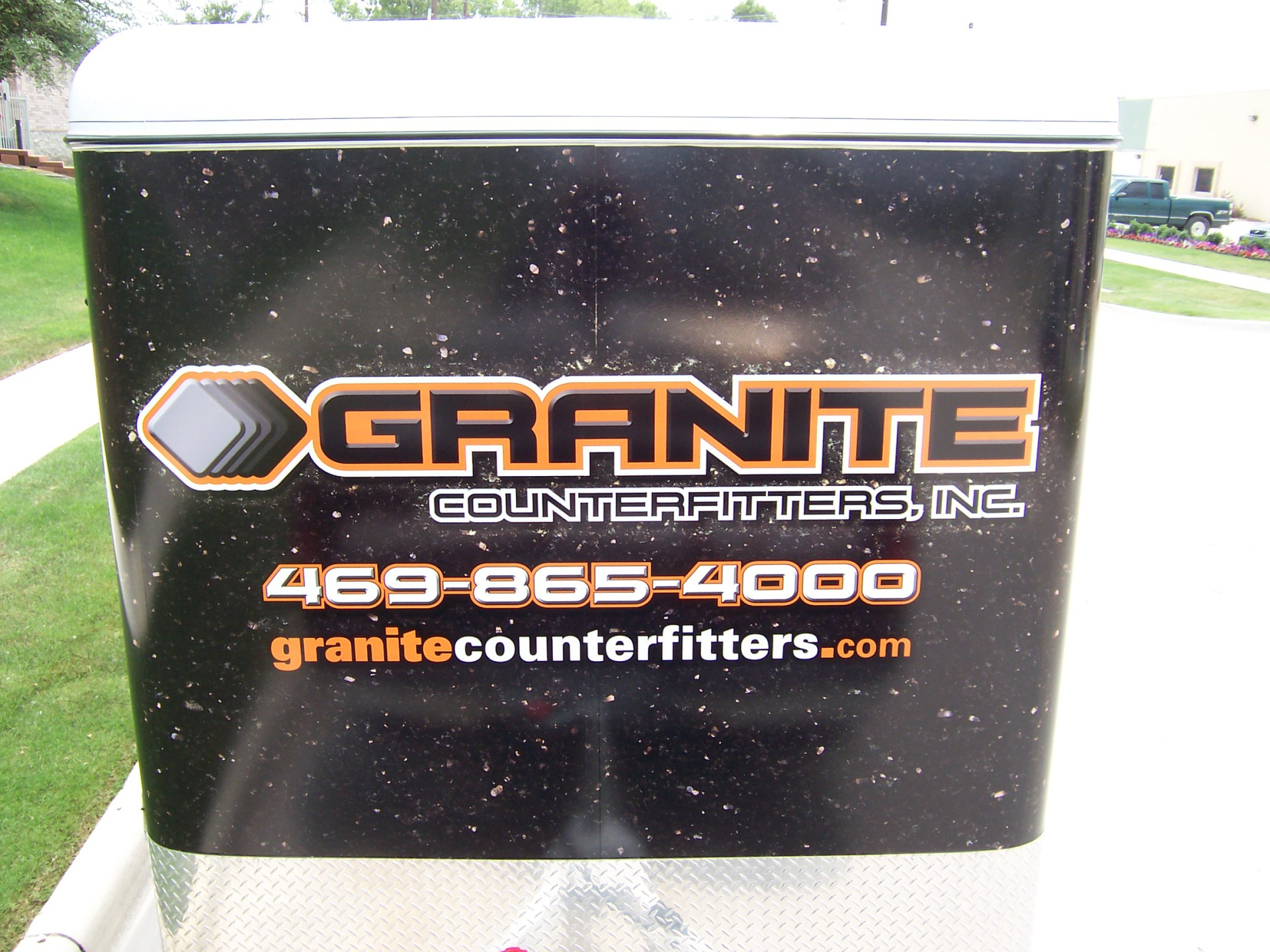 Granite Trailer wrap dallas, dallas trailer wrap, small traile wrap, dfw trailer wraps