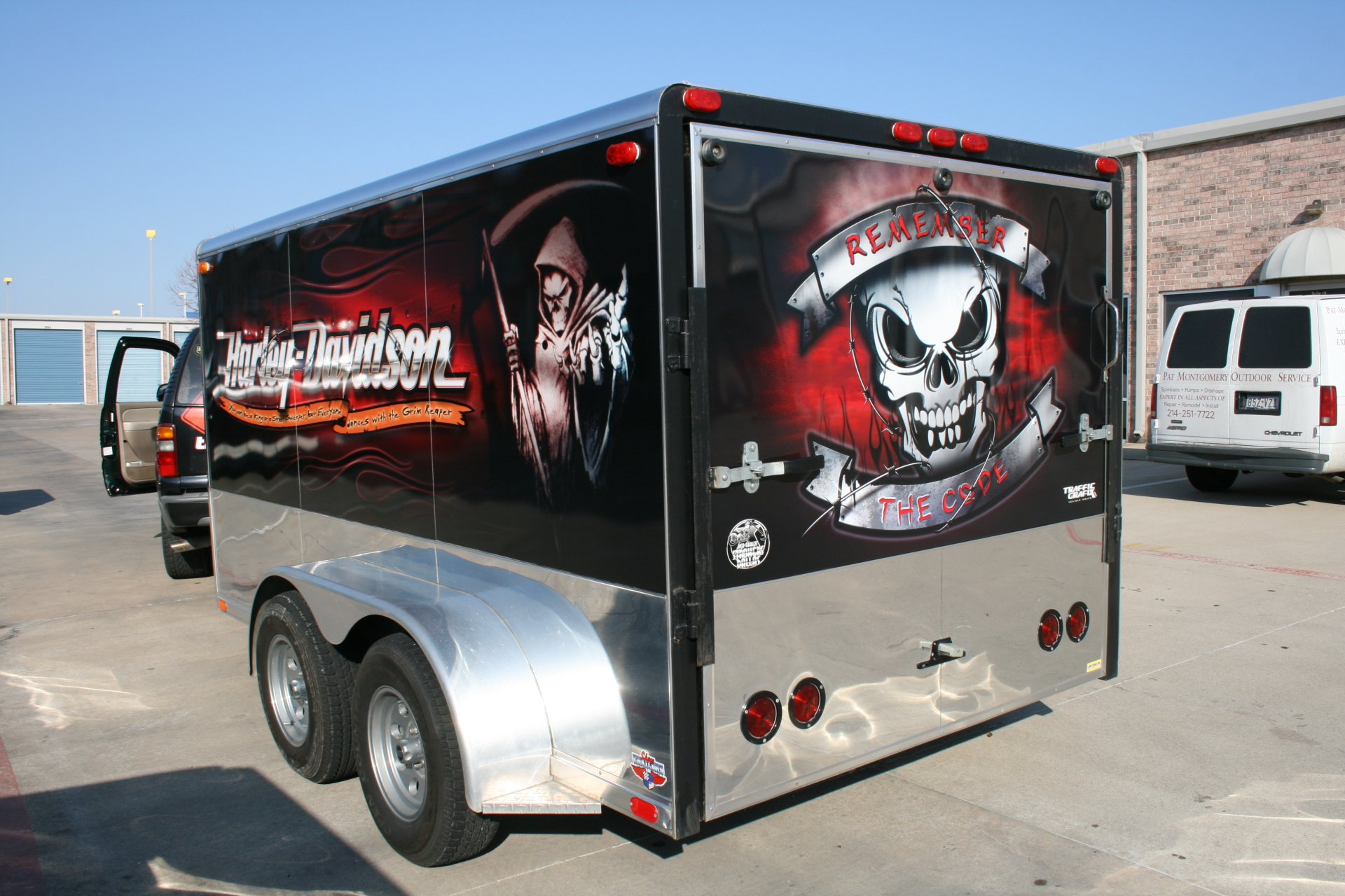 Motorcycle trailer wrap, trailer wrap, car wrap, trailer advertising, trailer decals, trailer wrap design, trailers dfw, trailers dallas